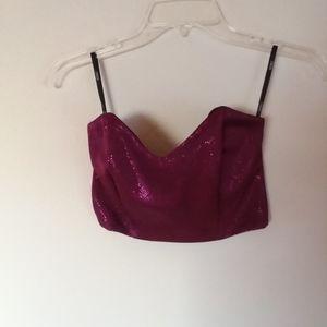 ASOS / Strapless Pink Shimmer Crop Top